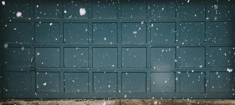 Garage Door and Snow